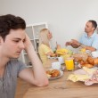 Parents arguing in the kitchen — Stock Photo