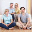 Stock Photo: Smiling family in group portrait