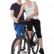 Fit healthy young couple — Stock Photo