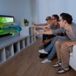 Family watching 3D television — Stock Photo #12792260