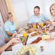 Family enjoying a meal together — Stock Photo