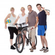 Portrait of a sporting family — Stock Photo #12794262