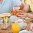 Royalty-Free Stock Photo: Happy family enjoying breakfast