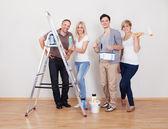 Equipo de reparaciones de mantenimiento del hogar — Foto de Stock