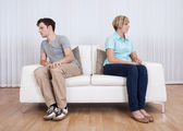 Brother and sister arguing — Stock Photo