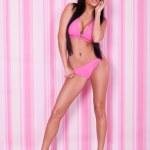 Sexy woman in pink bikini — Stock Photo