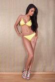 Sexy woman modeling lingerie — Foto de Stock
