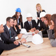 Engineers Discussing About A New Project — Stock Photo