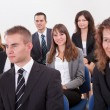 Portrait Of A Business Men And Women In Seminar — Stock Photo