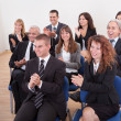 Stock Photo: Portrait Of A Business Men And Women In Seminar