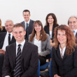 Stock Photo: Portrait Of Business Men And Women In Seminar