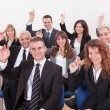 Stock Photo: Business Raising Their Hand