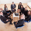 Group Of Business Sitting On Chairs — Stock Photo