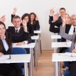 Businesspeople Raising Their Hands — Stock Photo