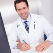 Smiling Medical Doctor With Stethoscope — Stock Photo