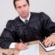 Male Judge In Courtroom — Foto Stock