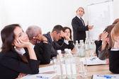 портрет грустно бизнес-команда — Стоковое фото