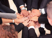 Business With Their Hands Together — Stock Photo
