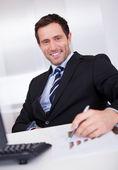 Portrait Of Happy Businessman — Stock Photo