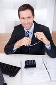 Portrait Of Happy Businessman — Stock Photo