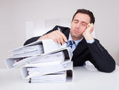 Bored Businessman — Stock Photo