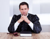 Portrait Of Serious Male Judge — Stock Photo