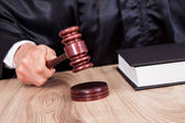 Male Judge In A Courtroom — Stock Photo