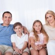 A Happy Family With Two Children — Stock Photo #13470283