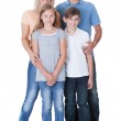 Portrait Of Happy Family On White Background — Stock Photo #13470534