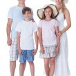 Happy Family Going For Vacation — Stock Photo