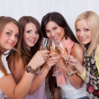 Stock Photo: Girls toasting with champagne