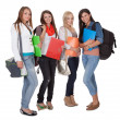 Four female students — Stock Photo #13652229