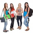 Four female students — Stock Photo #13652240