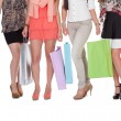 Elegant legs with shopping bags — Stock Photo