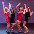 Group of women dancing - Stock Photo