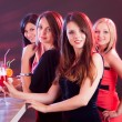Beautiful women on a night out - Stock Photo