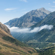 Panoramic mountain view of Pyrenees, Andorra - Stock Photo
