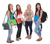 Four female students — Stock Photo
