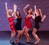 Group of women dancing — Stock Photo