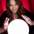 Fortuneteller with glowing ball — Stock Photo #14942857