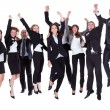 Group of jubilant business - Foto Stock