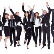 Group of jubilant business -  