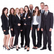 Stock Photo: lineup of business executives or partners