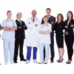 Hospital staff group — Stock Photo