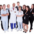Hospital staff group — Stock Photo