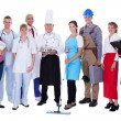 Group of representing diverse professions — Stok fotoğraf