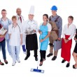 Group of representing diverse professions — Stock Photo #15334945