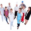 Group of representing diverse professions — Stock Photo