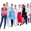 Group of representing diverse professions - Stock Photo
