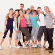 Group of friends posing at the gym — Stock Photo
